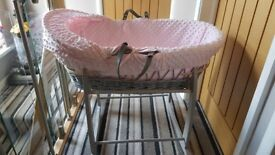 Clair De Lune Moses Basket & Stand *offers welcome
