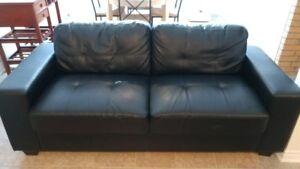 Divan sofa cuir noir