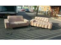 2x2 light brown material sofas £250 delivered