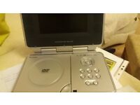 """PORTABLE DVD PLAYER 6.2"""" LCD SCREEN. BAG AND ACCESSORIES INCLUDED"""
