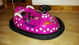 minnie mouse bumper car