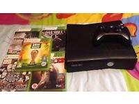 Xbox 360 and 5 games