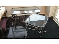 3 coffee tables..glass top