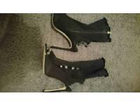 Ladies denim boots