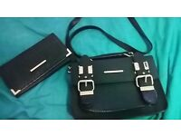 River island black bag and matching purse