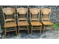 4 x American style dining chairs