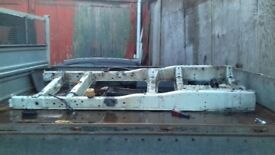 ford transit tin wheel chassis removed from 12 reg tipper