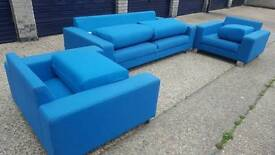 11 pieces Turquoise Sofa & 5 stool , lounge set