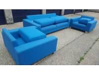 11 pieces Turquoise Sofa & 5 stool , lounge set