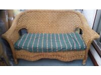 Free cane armchair with slim mattress. Good condition. Colour brown.