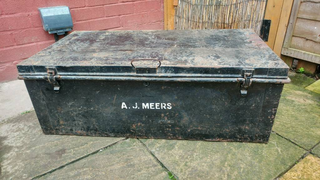 Vintage ammunition trunk