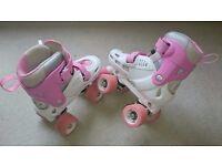 SFR Storm SIZE ADJUSTABLE Roller Skates pink/white