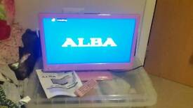 """Pink alba 22"""" TV dvd combi television boxed"""