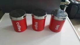 Tea coffee sugar canisters