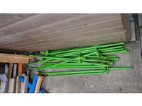 Odd Pieces of green gazzebo poles