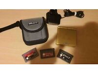 GAMEBOY ADVANCE SP WITH ZELDA RESHELL WITH GAMES, FULL SET UP