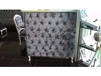 GREY DIAMOND VELVET BUTTON PLEATED RECEPTION DESK WAS £1,100 NOW! £675