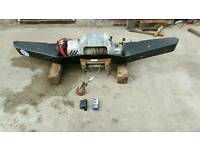 Landrover heavy duty winch and winch bumper