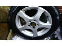 Alloy wheels and tyres for vw golf mk2