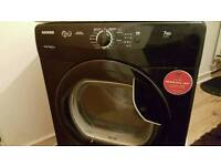 Black 7kg Hoover Condenser Dryer