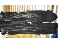 Triumph Motorbike Leather Jacket & Trousers