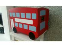 Children's wooden london bus toy box, bookcase, storage ect