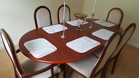Adjustable Dining Table and 6 Chairs
