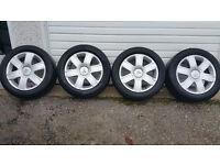Citroen Genuine 16 '' alloy wheels + 4 x tyres 205 55 16