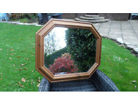Beautiful Hexagonal Wooden Mirror, Purchased from Park Furnishers of Bristol. Lovely design!
