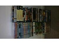 DVD's, various blu ray titles and ordinary dvd's