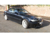 2004(04)BMW 318Ci SPORT CONVERTIBLE BLACK,LEATHER,GOOD RUNNER,SPARES OR REPAIRS