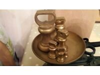 Vintage kitchen weighing scales