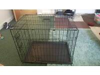 black dog cage like new