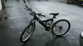 gents full suspension mountain bike 15 speed sold with or without lights
