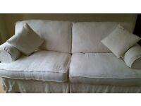 Harvey's pristine cream sofa