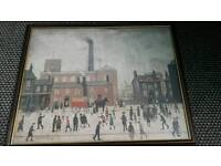 L S Lowry framed signed print