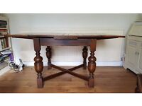 Extending Oak Dining Table and 4 chairs - Suitable for upcycle/shabby chic project