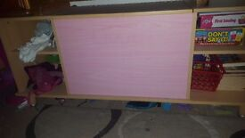 Girls toy chest and shelves