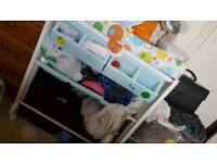 Nappy changing stand and bath