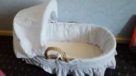 Moses basket with mattress and fitted sheets