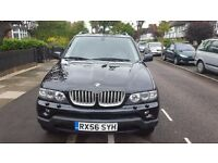 Left hand drive BMW X5 Black 2006