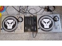Stanton STR8-100 turntables x 2 with Ecler Concept2 mix