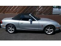 2000 Mazda MX5 1.6 Mot'd until April 18 & Mohair hood. Manual