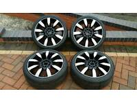 """18"""" Inch Diamond Cut 5x100 + 5x112 Universal Fit alloys Set with GoodYear tyres"""