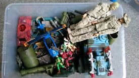 Boys toys...soldiers and accessories