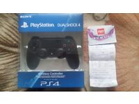 BOXED & NEW, Official Black Wireless DualShock PS4 Controller, Purchased from Argos, RRP=£49.99