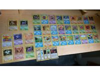 Pokemon Cards - vintage original part complete Fossil set with holos 40/62 cards
