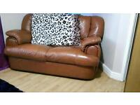 Leather 3 x 2 seater sofas