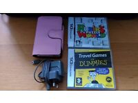 Pink Nintendo DS with Games