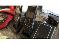 BT Verve Cordless Dect Phone with x4 spare batteries & chargers